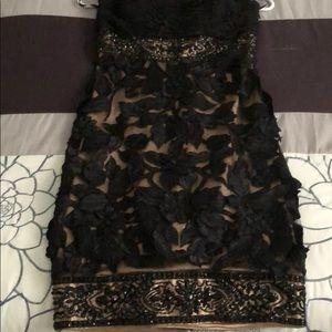 Strapless little black dress!